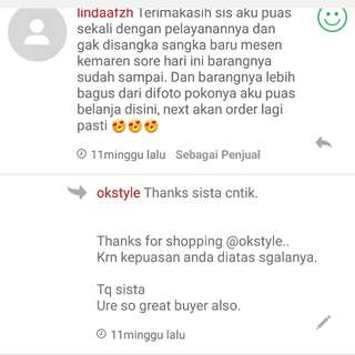 Testimoni customer @okstyle