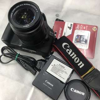 Canon eos 550d with 18-55mm and accessories (1k clicks only)