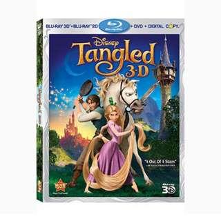Tangled (3D Blu Ray + 2D Blu Ray + Dvd + Digital Hd)