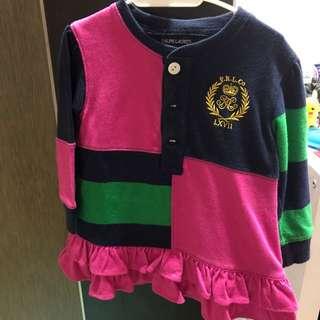Authentic Ralph Lauren baby girl 3/4 dress