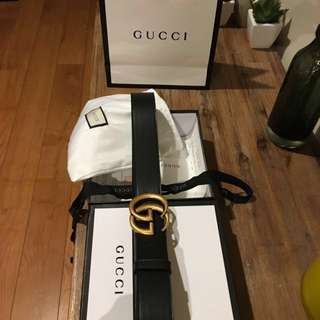 GUCCI Double G belt + box, pouch, paper bag & more!