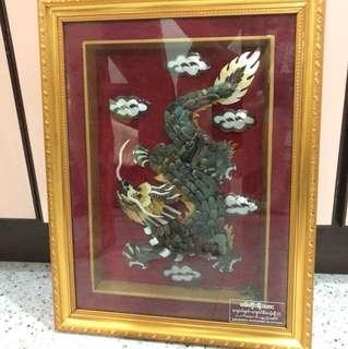 Jade dragon frame