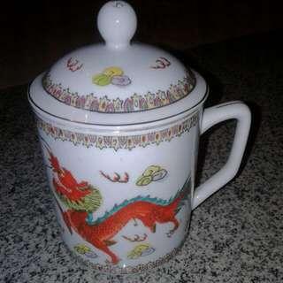 Dragon And Phoenix Mug With Lid