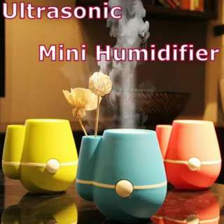 Haze! Humidifier LED Lighting Ultrasonic Aromatherapy Air Purifier / Car humidifier / USB humidifier [Mist Adjustment Mode/Mist Diffuser/Aroma Oil/Skin Care/Breathe Well/Super Quiet healthy home]
