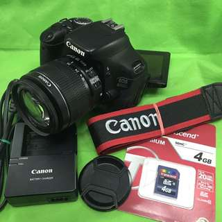 Canon eos 600d with 18-55mm lens and accessories (15k clicks only)