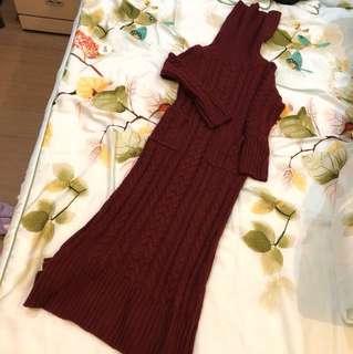 麻花編織長洋