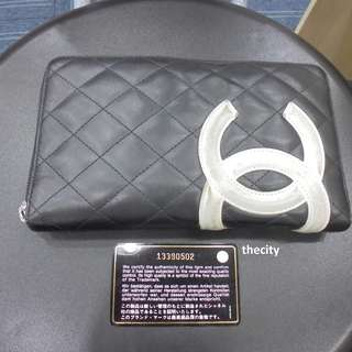 AUTHENTIC CHANEL CAMBON LAMBSKIN WALLET