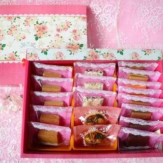 牛軋糖/牛軋餅/雪花餅/堅果塔/鳳梨酥綜合朵樂絲大禮盒