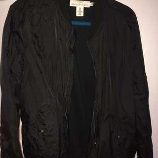 H&M black bomber nylon jacket