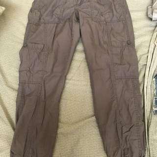 Gray womens cargo pants