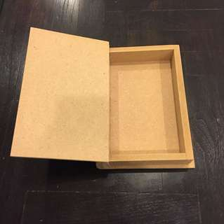 Wooden Box shape of a book