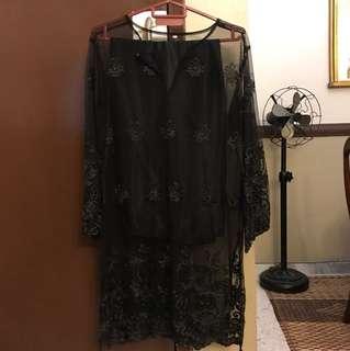Black Lace Kurung