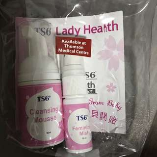 TS6 Female body mist and cleansing mousse