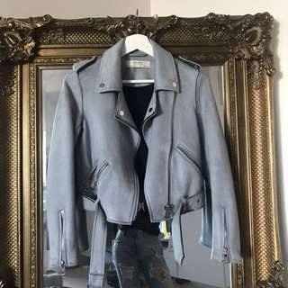 Zara blue suede jacket
