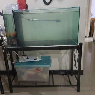 3 feet fish tank with iron wrought
