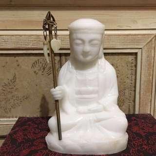 地藏王菩薩 * 手工雕刻 * 白玉石 * 實心