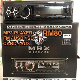 Single Din FM/MP3/USB PLAYER