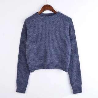 短款冷衫(藍色)