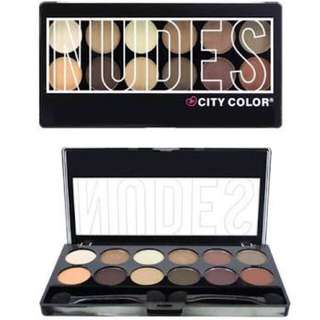 CITY COLOR NUDE EYESHADOW PALETTE