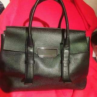 Calvin Klein Leather Black Handbag 99% New  Large Size Issue