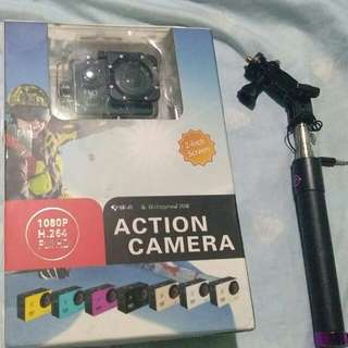 Action Camera comple accessories with box