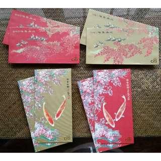 8 pcs Citi / Citibank / Citigold Set of Fish & Bird Red Packet / Ang Pao Bao Pau Pow / Sampul Duit