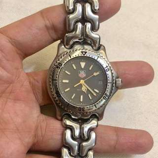 Tag Heuer Authentic Mens Y Series Silver Tone Watch