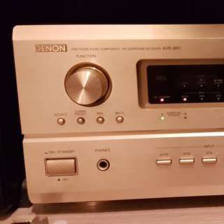 Denon AVR-3801 A/V Home Theater Surround Sound Receiver Amplifier