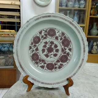 Ceramic Porcelain Plate Antique Antik 20