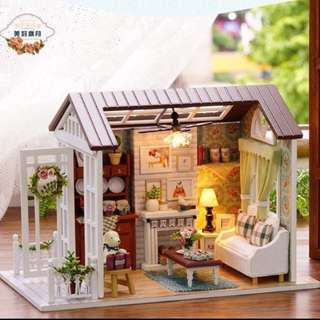 Handcrafted Miniature House: Happy Times