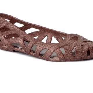 Used (2x) Melissa x Jason Wu Glitter pink shoes