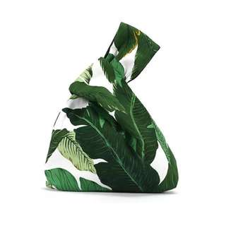 🎋Japanese Banana leafs design wrist pouch
