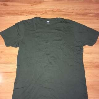 Olive UniQlo shirt