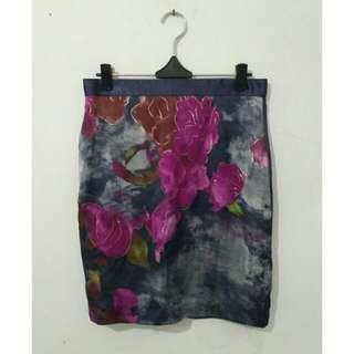 Mini Skirt Flower Purple (kebiruan)