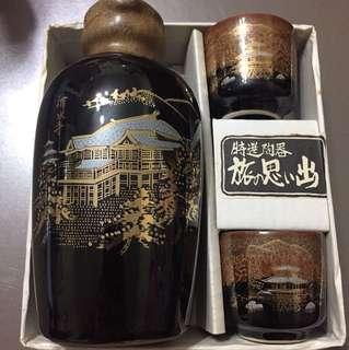 日本清水寺陶器酒杯