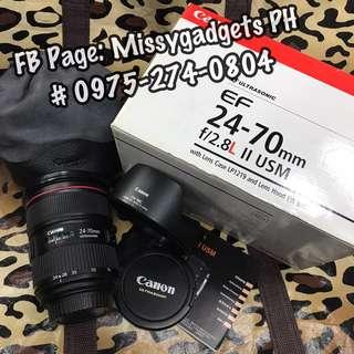 Canon ef 24-70mm f2.8L II USM ultasonic with box