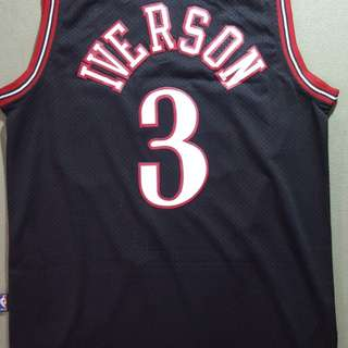 Sixers Iverson Black Jersey