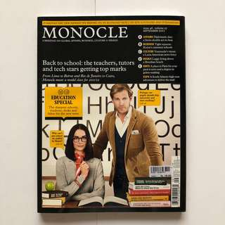 Monocle - issues 46, volume 05, September 2011.