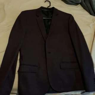 Elegant dirty maroon suit jacket - BRAND NEW