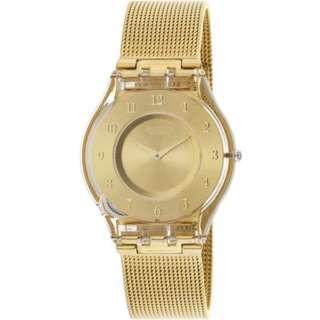 Swatch Women's Skin SFP115M Rose-Gold Stainless-Steel Swiss Quartz Fashion Watch