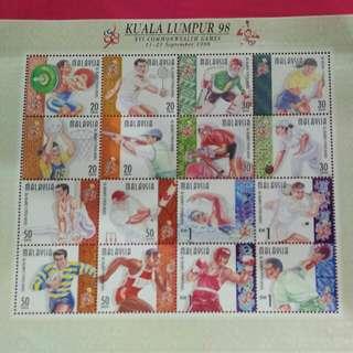 KL Commonweath 1998 stamp (still valid)