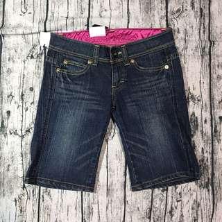 全新愛德恩something 女牛仔褲,M號,平量,腰*臀*大腿*長:35*43*22*50cm,褲當18cm