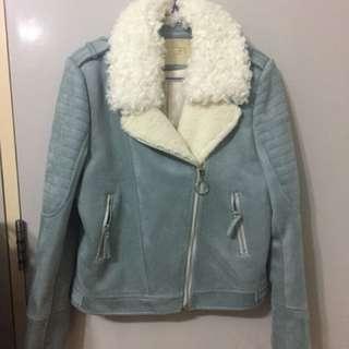 韓國藍色外套 暖