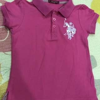 US Polo Girl Pink Shirt