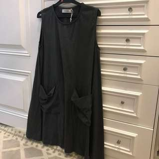 NEW grey sleeveless dress
