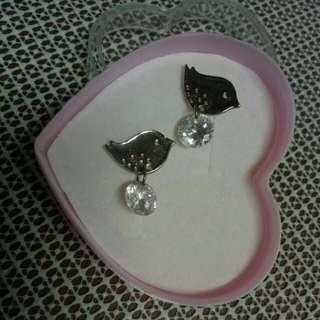 🌸小鳥鑽石耳環🌸