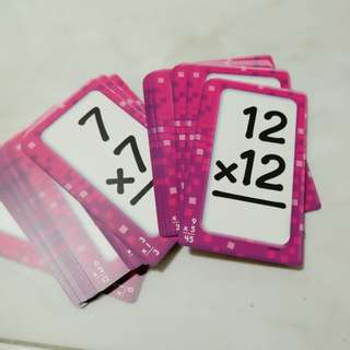 Learning card: multiplication 1-12