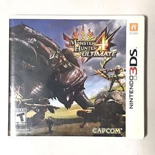 Monster Hunter 4 Ultimate Nintendo 3DS Game