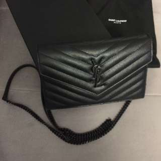 Ysl chain wallet bag in black