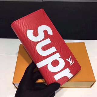 [代購] Supreme x Louis Vuitton 水波紋長款對折銀包